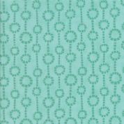 Grand Canal by Kate Spain - 5067 - Fontane, Circular Geometric Print in Pale Green & Teal - 27256 23 - Cotton Fabric